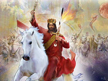 Jesus Christ the King riding His white horse