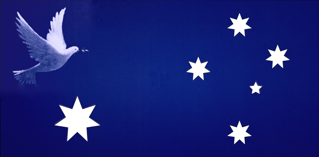 This image designed by the Little Pebble is being proposed as the future Flag of Australia